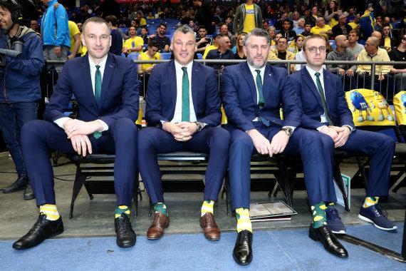 """nuotr. """"Getty Images""""/euroleague.net/Tomas Masiulis, Šarūnas Jasikevičius, Darius Maskoliūnas ir Paulius Motiejūnas"""
