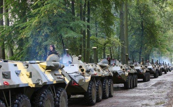 """""""Scanpix""""/""""Sputnik"""" nuotr./Baltarusijos ir Rusijos karinės pratybos """"Zapad 2013"""""""