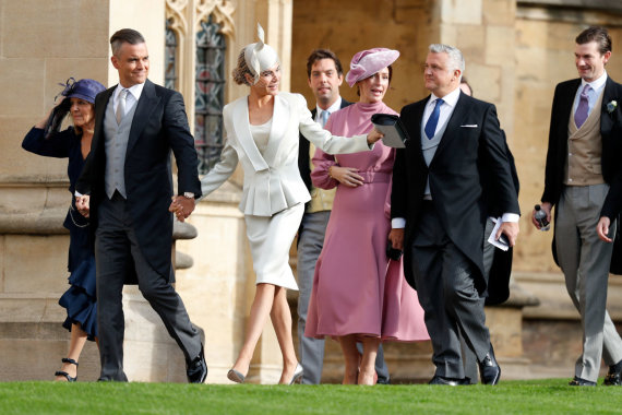 """Reuters""/""Scanpix"" nuotr./Robbie Williamsas su žmona Ayda Field"