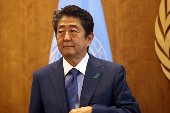 "AFP/""Scanpix"" nuotr./Japonijos premjeras Shinzo Abe"