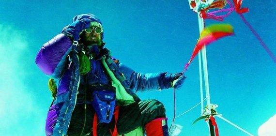 V.Vitkausko asm. archyvo nuotr./Vladas Vitkauskas Everesto viršukalnėje
