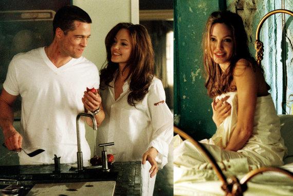 """Vida Press nuotr./Bradas Pittas ir Angelina Jolie filme """"Ponas ir ponia Smitai"""""""