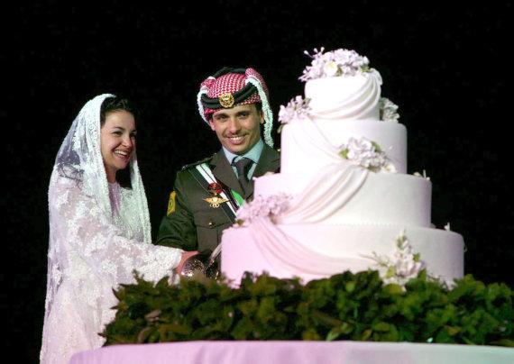 Vida Press nuotr./Jordanijos princas Hamzehas ir princesė Noor (2004 m.)