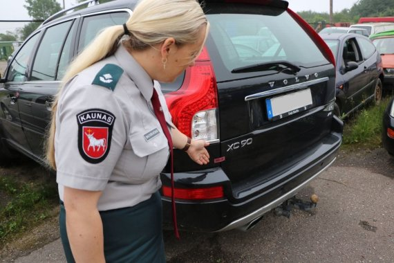 Kauno apskrities VPK nuotr./Konfiskuotas automobilis