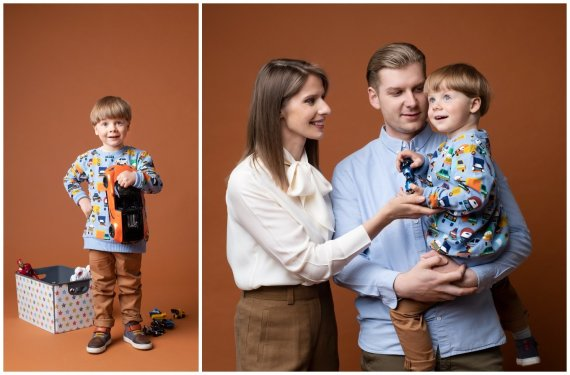 D. Ščiukos nuotr./Bernardas su tėvais