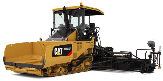 Projekto partnerio nuotr./vikšrinis asfaltbetonio klotuvas Cat AP655F