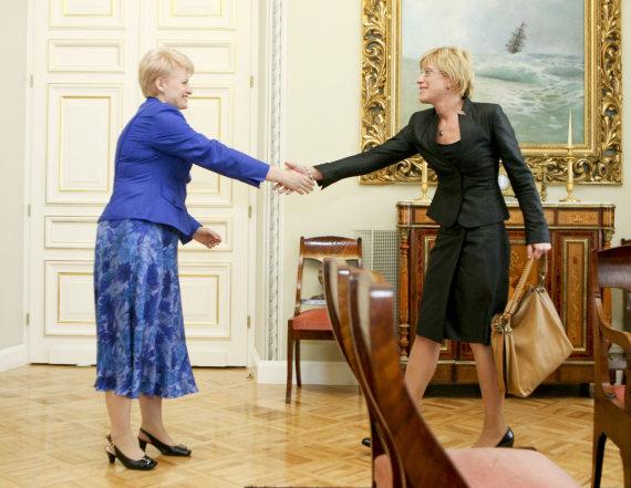 Irmanto Gelūno nuotr./Dalia Grybauskaitė ir Ingrida Šimonytė