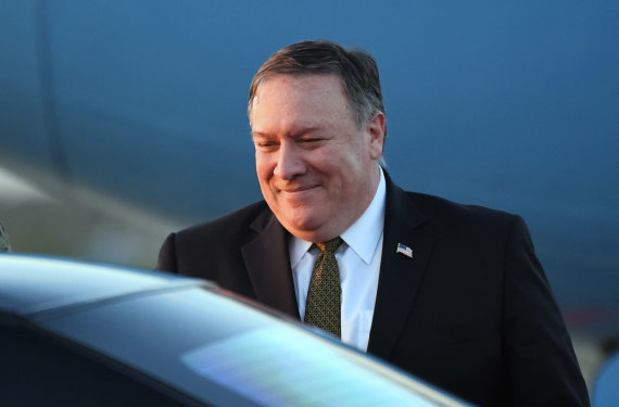 "AFP/""Scanpix"" nuotr./Mike'as Pompeo"
