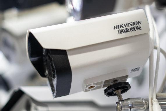 """AFP/""""Scanpix"""" nuotr./""""Hikvision"""" vaizdo stebėjimo kamera"""