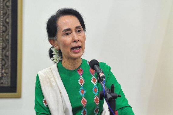 "AFP/""Scanpix"" nuotr./Aung San Suu Kyi"