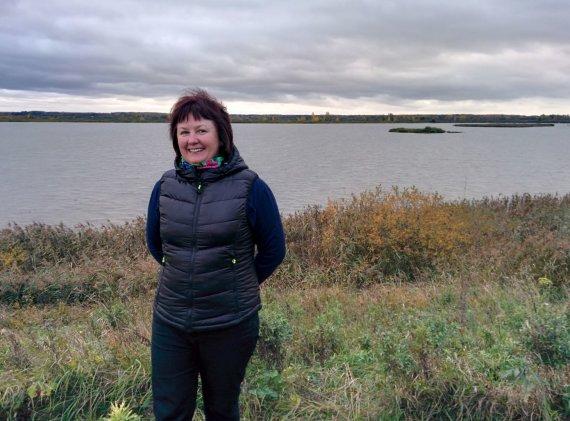 """Violetos Grigaliūnaitės/15min nuotr./Žuvininkystės ūkio """"Birvėtos tvenkiniai"""" vadovė Edita Brukštuvienė"""