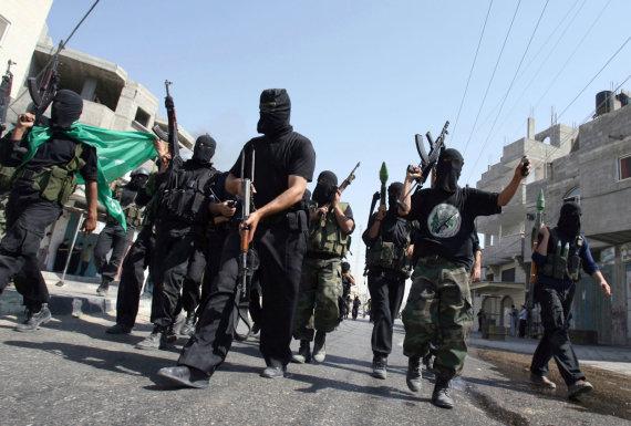 """AFP/""""Scanpix"""" nuotr./""""Hamas"""" kovotojai"""