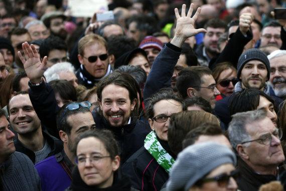 """Reuters""/""Scanpix"" nuotr./ ""Podemos"" lyderis Pablo Iglesias"