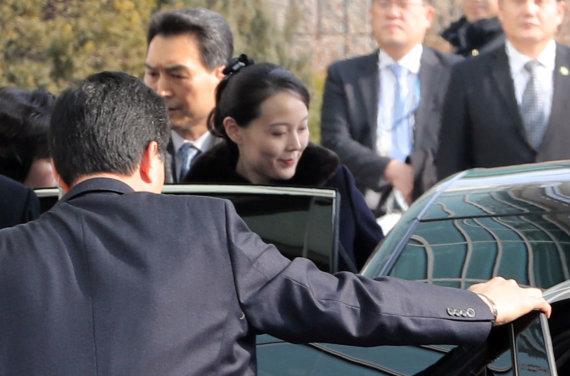 """""""Reuters""""/""""Scanpix"""" nuotr./Šiaurės Korėjos lyderio Kim Jong Uno sesuo Kim Yo Jong Pietų Korėjoje"""