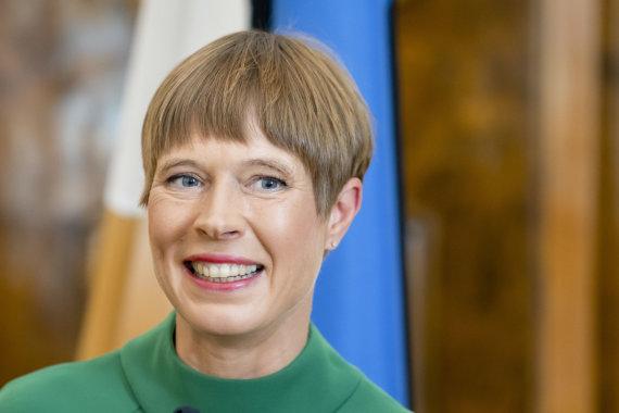 Luko Balandžio / 15min nuotr./Prezidento Gitano Nausėdos ir Estijos prezidentės Kersti Kaljulaid spaudos konferencija