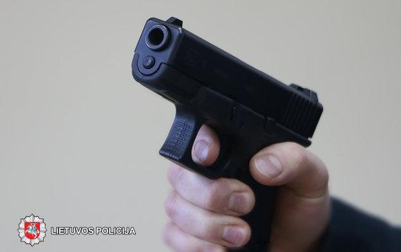 Policijos nuotr./Asociatyvi iliustracija: ginklas