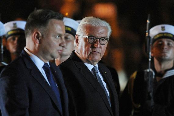 """AFP/""""Scanpix"""" nuotr./Andrzejus Duda ir Frankas-Walteris Steinmeieris"""