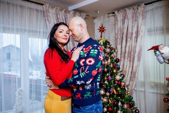Josvydo Elinsko / 15min nuotr./Milisandros ir Algio Radzevičių Kalėdų eglė