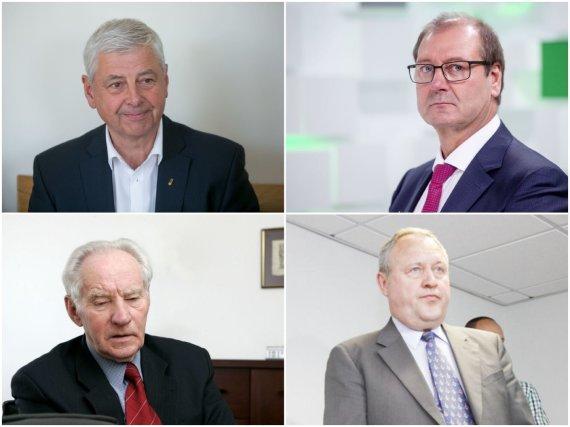 """15min ir """"Scanpix"""" nuotr./Galimai ėmę kyšius: Rymantas Juozaitis, Viktoras Uspaskichas, Pranas Noreika, Anicetas Ignotas"""