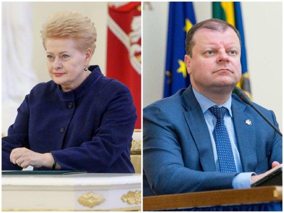 15min koliažas/Dalia Grybauskaitė ir Saulius Skvernelis