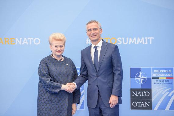 Roberto Dačkaus nuotr./Dalia Grybauskaitė ir Jensas Stoltenbergas