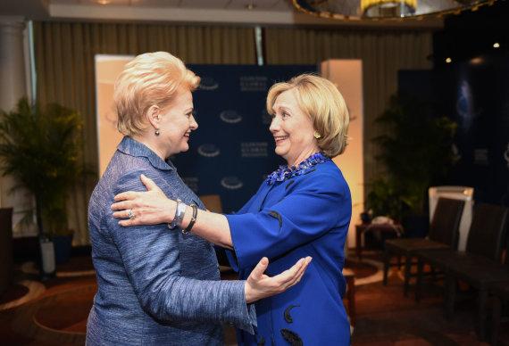R.Dačkaus nuotr./Dalia Grybauskaitė ir Hillary Clinton