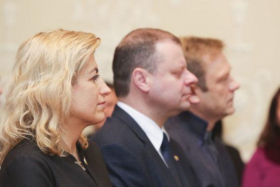 Irmanto Gelūno / 15min nuotr./Ministras pirmininkas Saulius Skvernelis pristatė naująjį ministrą Kultūros ministerijoje