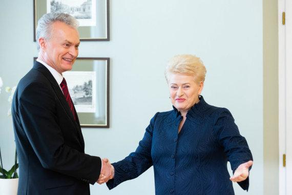 Žygimanto Gedvilos / 15min nuotr./Gitanas Nausėda ir Dalia Grybauskaitė