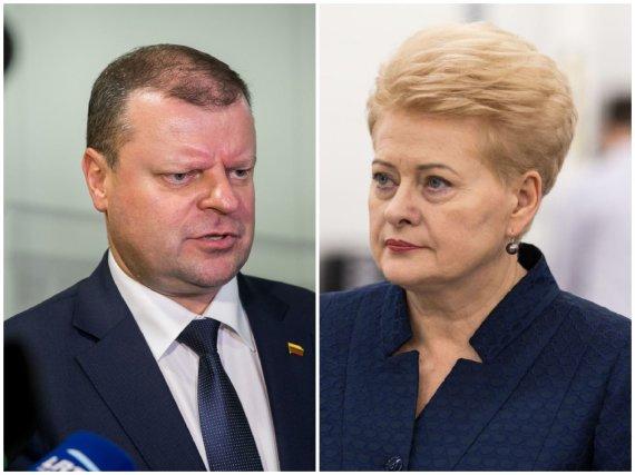 15min nuotr./Saulius Skvernelis ir Dalia Grybauskaitė