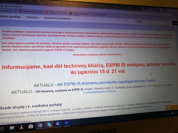 L.Vireliūnaitės nuotr. /e.sveikatos tinklalapis