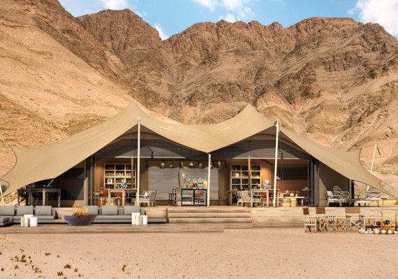 """naturalselection.travel nuotr./""""Hoanib Valley Camp"""" stovyklavietė Namibijoje"""
