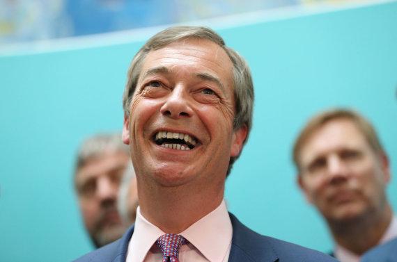 """""""Scanpix"""" nuotr./Nigelas Farage'as"""