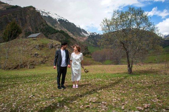 Asmeninio archyvo nuotr./Alberto Ibarso ir Mingailės Skuodytės vestuvės Ispanijos kalnuose