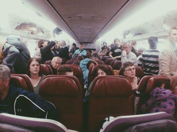 123rf.com/Keleiviai lėktuve