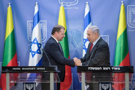 Israel PM Netanyahu meetd PM Skvernelis. Photo LRVK / Darius Janutis