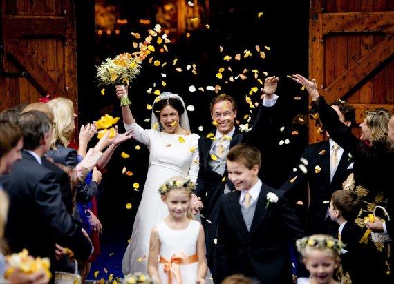 """Scanpix"" nuotr./Nyderlandų princas Jaime su žmona Viktoria Cservenyak (2013 m.)"