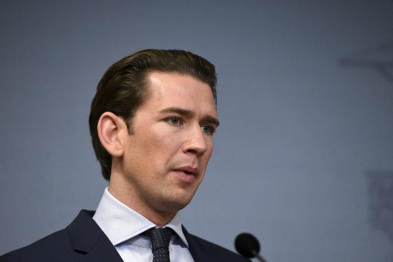 """""""Scanpix""""/AP nuotr./Austrijos kancleris Sebastianas Kurzas"""