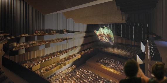 """""""BuildingOffice""""/""""BuildingOffice"""" pasiūlymas koncertų salei ant Tauro kalno"""