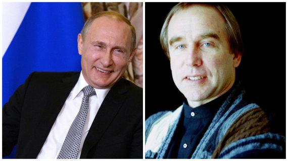 """AP / """"Scanpix"""", Vida Press nuotr./Vienas artimiausių Vladimiro Putino draugų Sergejus Rolduginas (dešinėje) valdė šešėlinę verslo imperiją, turtus susikrovusią galimai nevengiant neteisėtų operacijų"""