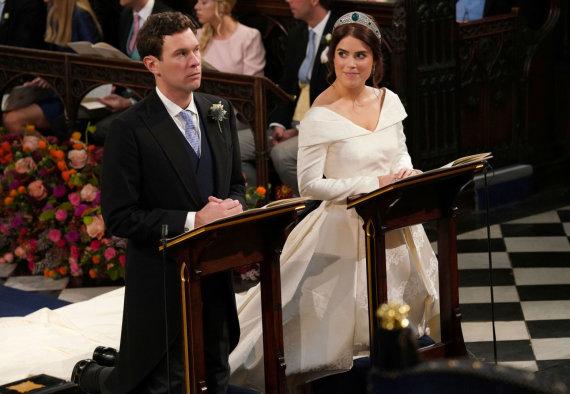 """Reuters""/""Scanpix"" nuotr./Princesės Eugenie ir Jacko Brooskbanko vestuvės"