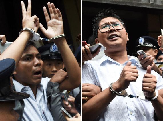 """AFP/""""Scanpix"""" nuotr./Kyawas Soe Oo ir Wa Lone'as"""