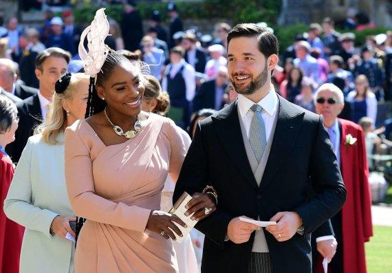 """AFP/""""Scanpix"""" nuotr./Serena Williams ir jos vyras Alexis Ohanianas"""