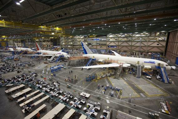 "AFP/""Scanpix"" nuotr./Boeing 777 ir 787 Widebody Jets"
