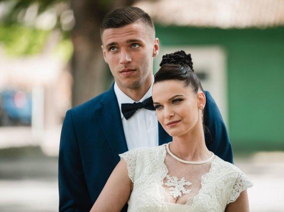 Luko Kodžio nuotr./Gintarės Jarošaitės ir Edgaro Žarskio vestuvių akimirka