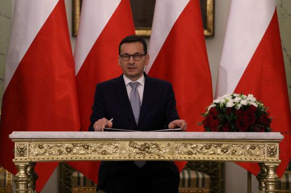 """Reuters""/""Scanpix"" nuotr./Lenkijos premjeras Mateuszas Morawieckis"