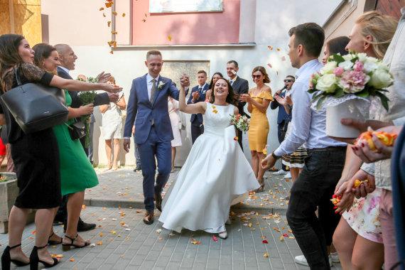 Vidmanto Balkūno / 15min nuotr./Justės Navickaitės ir Antano Tamošaičio vestuvės