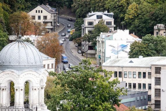 """Eriko Ovčarenko / 15min nuotr./Kauno panorama nuo """"Britanikos"""" stogo"""