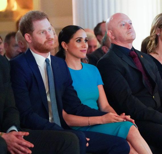 """AFP/""""Scanpix"""" nuotr./Princas Harry ir Meghan Markle"""