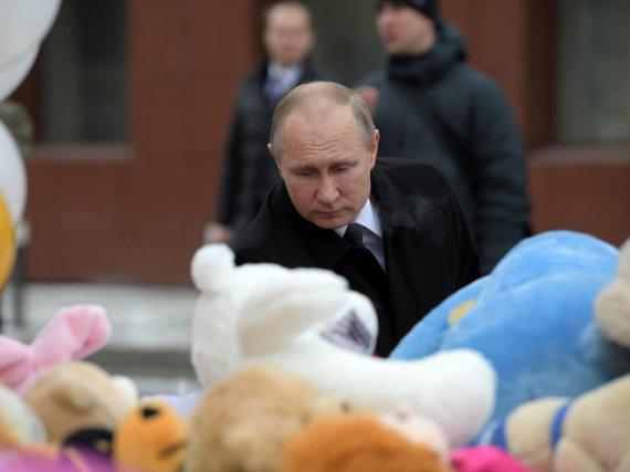 """Sputnik"" nuotr./Vladimiras Putinas Kemerove"