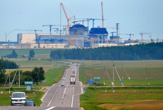 """""""Sputnik""""/""""Scanpix"""" nuotr./Astravo atominės elektrinės Baltarusijoje statybos"""